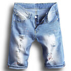 Summer Men's Distressed Rip Colored Jean Short Pant Denim Ripped Shorts US STOCK <br/> ❤ Best Quality Fast Shipping ❤ US STOCK ❤Easy Return
