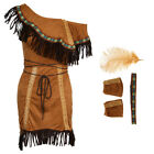 Indian Women Lady Squaw Costume  Tribal Cosplay Costume