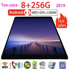Tablet PC 10 Zoll 10 Core Android 8.1 Tablets 3g WiFi GPS 8GB + 256GB