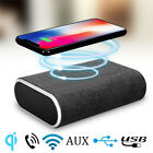 Super Bass Bluetooth Speaker AUX And 20W QI Wireless Charger For iPhone Samsung