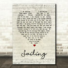 Sailing Script Heart Song Lyric Quote Print