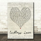 Endless Love Script Heart Song Lyric Quote Print