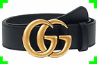 Women Slim Leather Belt Retro Thin Dress Belts With Gucci Logo Pattern For Jeans