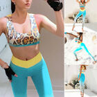 Yoga/Gym Workout Leopard Printed Pencil Pants Crop Tops Womens Fitness Sportsuit