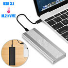 USB 3.1 to M.2 NVME PCIE SSD Enclosure Heat Dissipation Hard Disk Drive Case