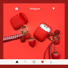 Silicone Case For Airpods Protection Earphone Shockproof Skin Red Pendant Cover $9.16  on eBay