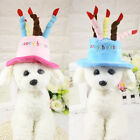 Cute Candle Cake Doggie Happy Birthday Party Hat Boy Girl Dog Pet Gift Costume