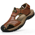 Men's Outdoor Hiking Genuine Leather Sandals Summer Camping Fisherman Shoes US