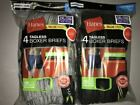 Hanes Men's 8 Pack Boxer Briefs 2XL & 3XL Tagless & ComfortSoft Assorted Colors