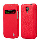 JISON CASE S-VIEW REAL LEATHER EXECUTIVE FOLIO CASE FOR SAMSUNG GALAXY S4 MINI