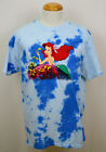 Little Mermaid T-shirt Disney Ariel Daydreaming Graphic Tee Blotched Blue NWT