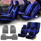 Car SUV Seat covers for Auto w/ Gray All Weather Floor Mats 12 Color Options