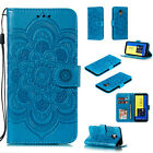 For Samsung Galaxy J4/J6 2018/J2 Pro Wallet Phone Case Flip Leather Flower Cover