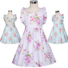Kids Baby Girls Party Dress Floral Ruffle Sleeveless Sundress Romper Dresses