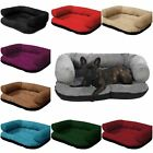 Deluxe Soft Washable Dog Pet Warm Basket Bed Cushion with Fleece Lining [ALEX]