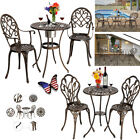 3pcs Tulip Garden And Patio Home Outdoor Bistro Table And Chair Set Aluminum Us