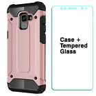 For Samsung Galaxy A8 2018 Shockproof Armour Dual Layer Heavy Duty Case Cover <br/> Ships from Canada - Fast delivery - Quality Products