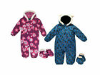 Trespass Bye Byes Baby Boys Girls Waterproof Padded All In One Snowsuit