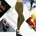 Women Causal Sexy Slim Fit High Waist Tight Leggings Folding Fitness Yoga Pants#