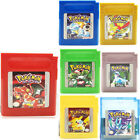 For Pokemon Gold Silver Yellow Red Blue Green Crystal Nintendo Gameboy GBC