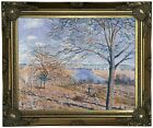 Sisley Banks of the Loing Autumn Effect 1881 Wood Framed Canvas Prnt Repro 11x14