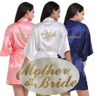 Women Wedding Bridesmaid Robe Bride Satin/silk robe maid of honor Dressing Gown