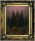 Friedric Cross and cathedral in the mountains Wood Framed Canvas Prnt Repro 8x10