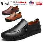 Kyпить Mens Leather Shoes Casual Round Toe Loafers Wedding Formal Dress Work Shoes Size на еВаy.соm
