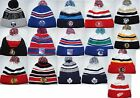 New NHL KNIT Hockey Winter authentic Cap cuff Beanie with Pom Man $16.99 USD on eBay