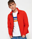 New Mens Superdry Premium Iconic Harrington Jacket Blood Orange Red