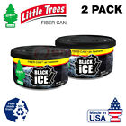 Little Trees Black Ice Fiber Can Air Freshener Scent Home Car (Pack of 1-6)