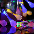 LED Colorful Glow Water Drop String Lights Christmas Decor Night Light SS877