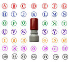 Kyпить Initial Stamp Self Inking with 1 or 2 Custom Letters 8 colors Round 14mm Stamper на еВаy.соm