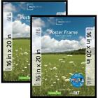"Mainstays 16"" X 20"" Basic Poster And Picture Frame, Black, Set Of 2 Frames"