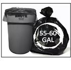 150 Large 13, 30, 39, 45 Or 55 - 60 Gallon Trash Bags Heavy Duty 2 Mil Strength