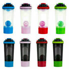700ML Sport Gym Shake Protein Shaker Mixer Cup Potable Drink Whisk Bottle UK