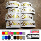 'Personalised Mrs Hinch /zoflora/lenor 2x Vinyl Stickers Storage Baskets Bottles
