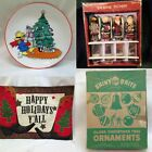 MANY CHOICES CHRISTMAS DECOR Plate Placemat Candle Bell Spoon Figurine Nativity