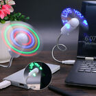 Programmable Texts LED Lights Flexible USB Fans Character PC Gadgets Accessories