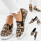 Women Leopard Printed Flat Shoes Round Casual Slip-on Shoes Comfy  Shoe