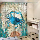 "71"" X 71"" Waterproof Bathroom Bath Shower Curtain Toilet Cover Mat Non-Slip Rug"
