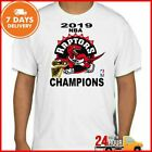 Toronto Raptors 2019 Champions T-Shirt Raptors TShirt White Cotton Full Size on eBay