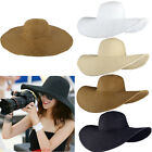 Kyпить Women's Sun Straw Hat Wide Large Brim Floppy Derby Summer Beach Folding Cap UV на еВаy.соm
