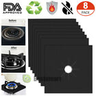 4/8x Stove Top Protector Square Gas Ranges - Ultra Thin, Easy Clean Stove Liners