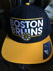 Boston Bruins Adidas NHL Dassler Flat Bill Brim Cap Hat Hockey Authentic Men's B $12.99 USD on eBay