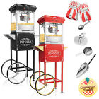 Vintage Style Popcorn Machine Maker Popper with Cart and 6-Ounce Kettle