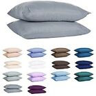 Pillowcases 800 Thread Count 100% Cotton Bed Pillow cases 2-PCs Multi Color/Size image