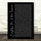 Everybody's Free To Wear Sunscreen Black Script Song Lyric Music Gift Print