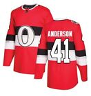 Men's Fanatics Craig Anderson Red Ottawa Senators 2017 NHL 100 Classic Jersey $39.41 USD on eBay