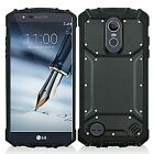 For LG Tribute Dynasty / Empire Heavy Shockproof Carbon Fiber Case